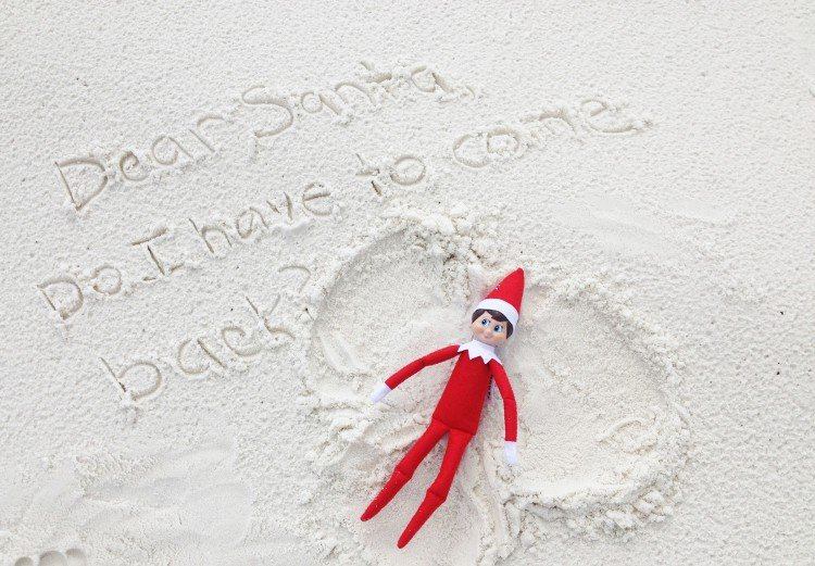 Christmas in Anguilla Sand Angel