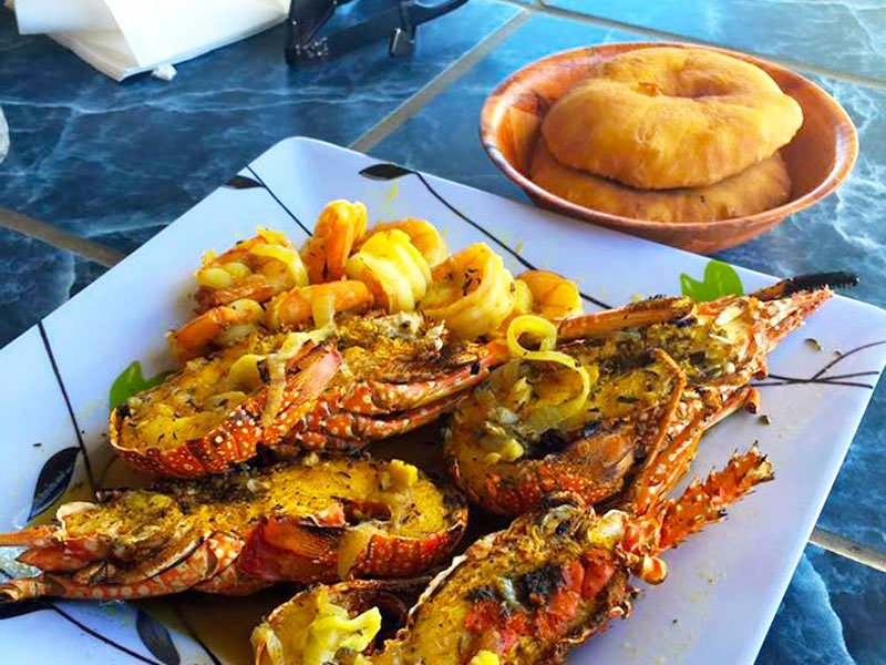 Palm Grove Anguilla Lobster Johnny Cake