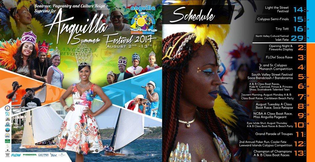 2017 Anguilla Carnival Summer Festival Schedule