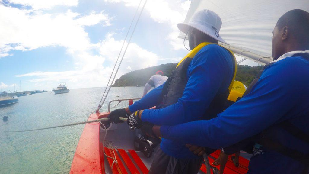 2017 Anguilla Day Boat Race Blue Bird