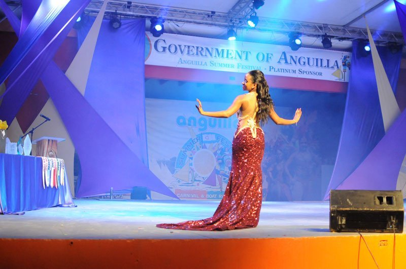 Miss Anguilla, Contestant #4, Aliyah Alfred, Best Evening Wear